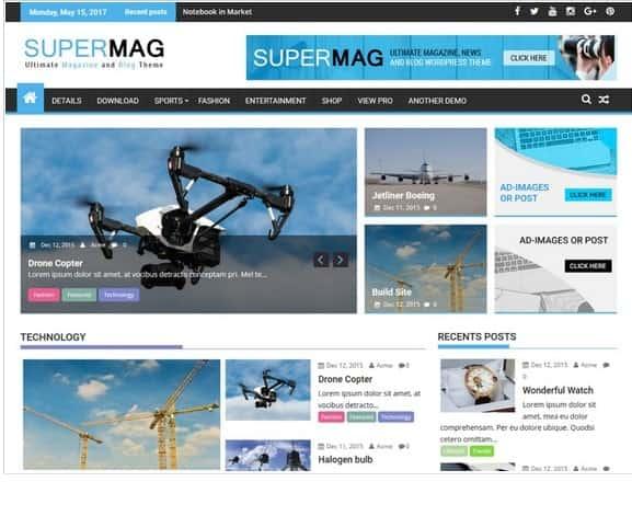SuperMag theme
